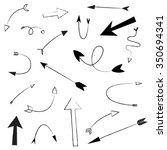 arrows hand drawn doodle... | Shutterstock .eps vector #350694341