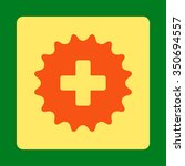 plus stamp vector icon. style... | Shutterstock .eps vector #350694557