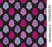 elegant seamless pattern with... | Shutterstock .eps vector #350699255