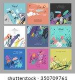 set of artistic creative... | Shutterstock .eps vector #350709761