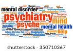 psychiatry word collage | Shutterstock . vector #350710367