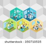 hospital clinic interior... | Shutterstock .eps vector #350710535