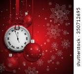 new year red background with... | Shutterstock .eps vector #350712695