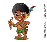 illustration of a tough kid... | Shutterstock .eps vector #350716499