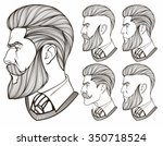 men with beard   Shutterstock .eps vector #350718524