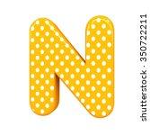 3d Polka Dots Letter N Orange...