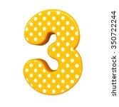 3d Polka Dots Number 3 Three...