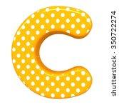 3d Polka Dots Letter C Orange...