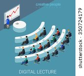 digital lecture web conference... | Shutterstock .eps vector #350724179