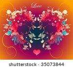 vector flower background | Shutterstock .eps vector #35073844