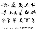 sport vector icons set | Shutterstock .eps vector #350739035