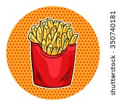 vector french fries in red... | Shutterstock .eps vector #350740181