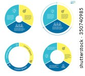 circular infographics with... | Shutterstock .eps vector #350740985