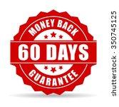 60 days money back guarantee... | Shutterstock .eps vector #350745125