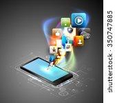 illustration social networking. | Shutterstock .eps vector #350747885
