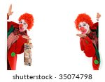 colorful dressed female holiday ... | Shutterstock . vector #35074798