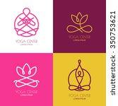 Yoga Outline Logo Design...