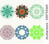 set of color ethnic ornamental...   Shutterstock .eps vector #350755469