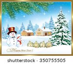 2016 christmas card with a... | Shutterstock .eps vector #350755505