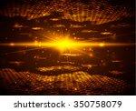 abstract background  hexagonal... | Shutterstock .eps vector #350758079