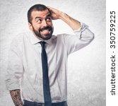 businessman having doubts   Shutterstock . vector #350759225