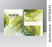 vector brochure template design ... | Shutterstock .eps vector #350760641