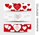 happy valentine's day header... | Shutterstock .eps vector #350767121