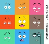 set of cartoon faces with... | Shutterstock .eps vector #350768465