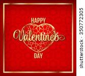 happy valentine's day hearts...   Shutterstock .eps vector #350772305