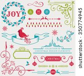 set of christmas and new year... | Shutterstock .eps vector #350774945