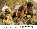 Three Cowboys Galloping