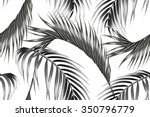 tropical palm leaves seamless... | Shutterstock .eps vector #350796779