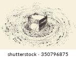 holy kaaba in mecca saudi... | Shutterstock .eps vector #350796875