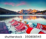 colorful summer scene on the... | Shutterstock . vector #350808545