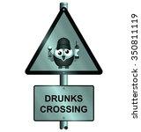 comical road drunks crossing... | Shutterstock . vector #350811119