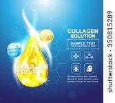 collagen serum and vitamin... | Shutterstock .eps vector #350815289