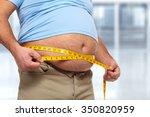 senior man with big fat stomach....   Shutterstock . vector #350820959