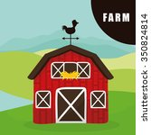 farm concept  with building... | Shutterstock .eps vector #350824814