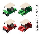 golf cart. set of golf cart in... | Shutterstock .eps vector #350826371