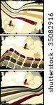 the vector retro grunge...   Shutterstock .eps vector #35082916