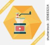 grinding coffee machine flat... | Shutterstock .eps vector #350833214