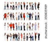 team together people diversity  | Shutterstock . vector #350835989