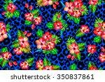 Vivid Tropical Flowers Pattern...