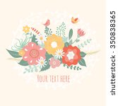 beautiful greeting card with... | Shutterstock .eps vector #350838365