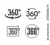 360 degrees view sign icon.... | Shutterstock .eps vector #350838674