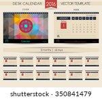 calendar 2016. vector templates ... | Shutterstock .eps vector #350841479
