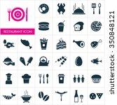 vector food icon set. | Shutterstock .eps vector #350848121