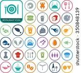 vector food icon set. | Shutterstock .eps vector #350848139