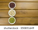 black eye peas  mung bean and... | Shutterstock . vector #350851649
