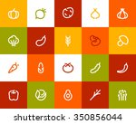 vegetables icons. flat series | Shutterstock .eps vector #350856044